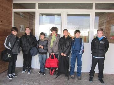 L''avant match - De gauche à droite : Pierre, Anthony, Aurélien, Matteo, Swann, Antoine et Matthis