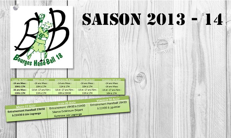 Toutes les infos sur la reprise de la saison 2013-14!