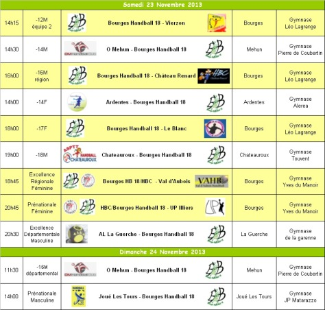 Programme WE 23-24 Novembre 2013