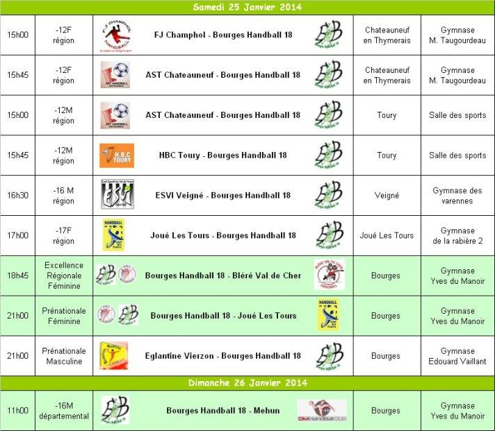Programme du 25 et 26 Janvier 2014