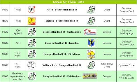 Programme du 1er Février 2014
