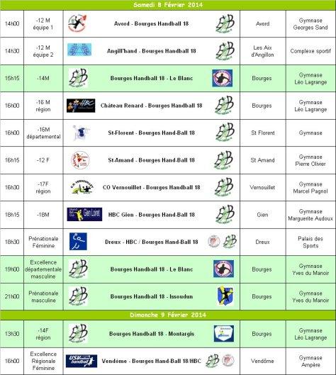 Programme du 8 et 9 Février 2014