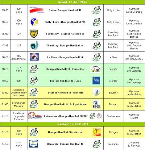 Programme du 12 et 13 Avril 2014