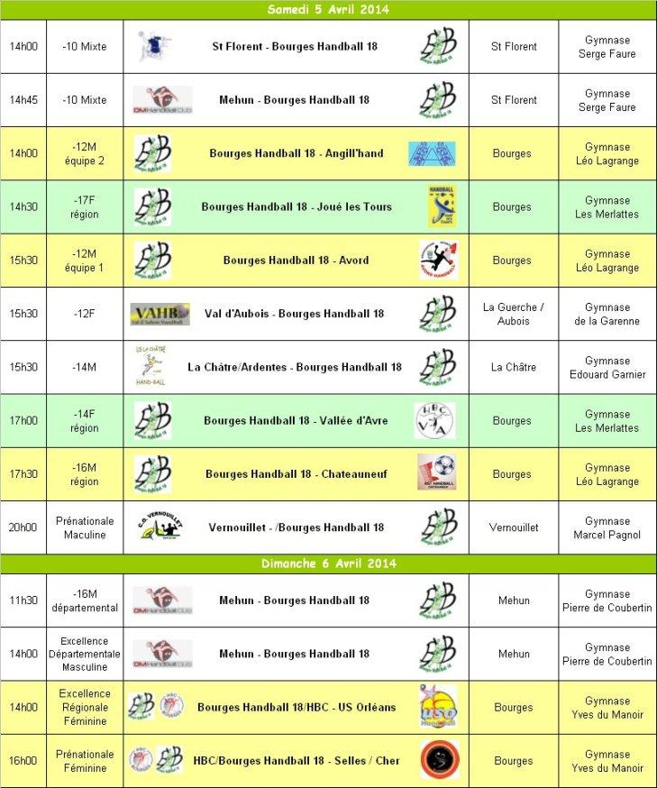 Programme du 5 et 6 Avril 2014