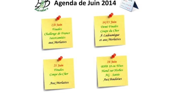 L'Agenda de Juin du Bourges Hand-Ball 18