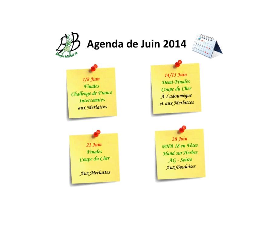L'Agenda de Juin du Bourges Hand-Ball18