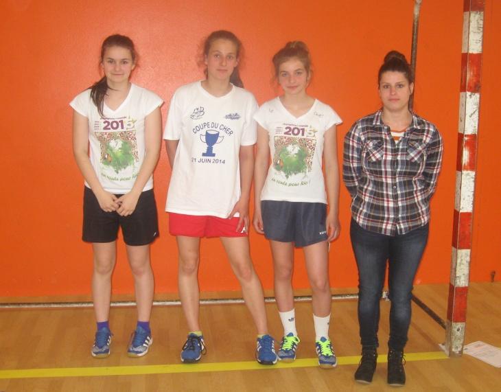 Trois filles du BHB18 font partie de l'équipe du cher : Marine Bernard, Salomé, Astrid Isaert