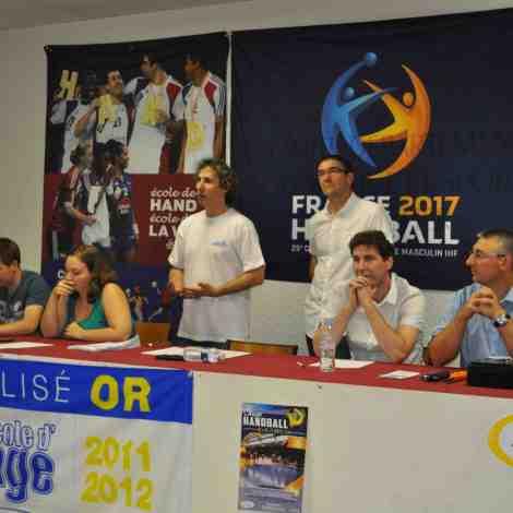 Jérémie Perrin, Manon Laure, Pascal Gauthier, Bruno Laure, Jean-Philippe Dingli et Yannick Krause