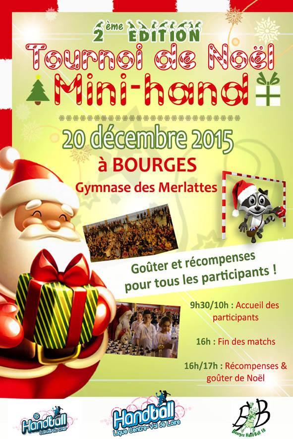 Tournoi de Noël pour le Mini-hand le 20 décembre2015