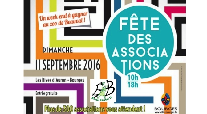 Le BHB18 à la fête des associations de Bourges ce dimanche 11 Septembre