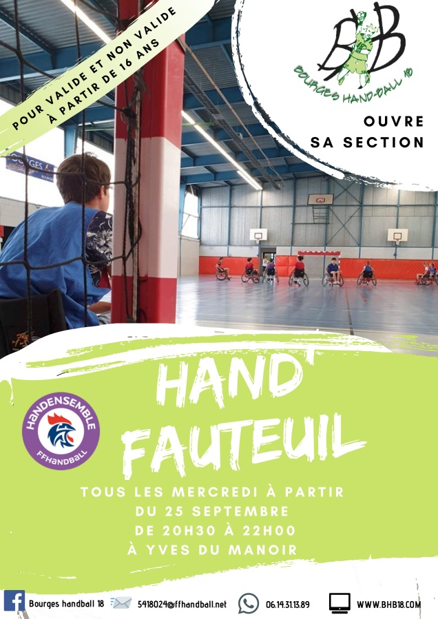 Le BHB 18 ouvre sa section hand'fauteuil