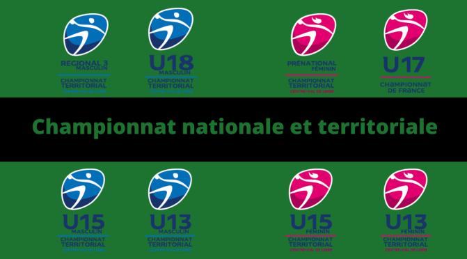 Les Championnats nationales et territoriales 1 sont sortis