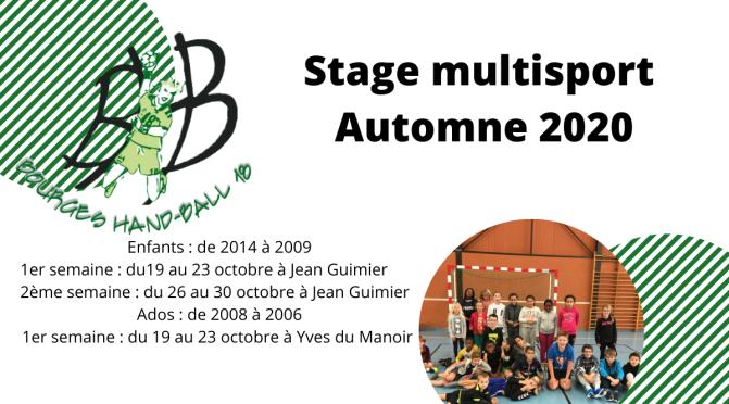 Stage multisport Automne 2020